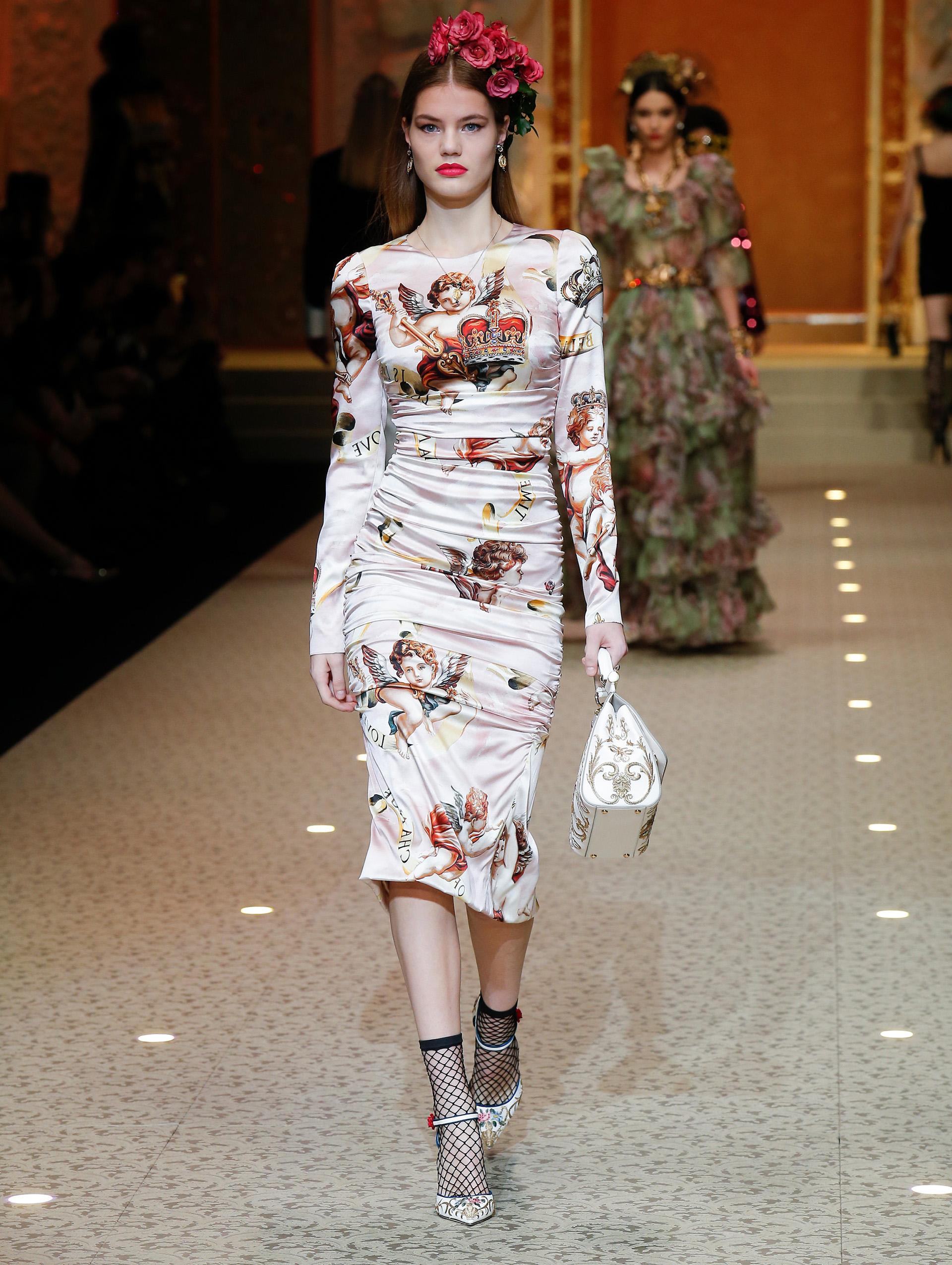 Дольче Габбана: мода на осень 2018/2019 в стиле барокко (фото)